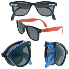 5c9190beae Always breaking your sunglasses  Fold them up and go with our imprinted Fold-N-Go  Wayfarer Sunglasses.