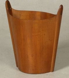P.S. Heggen Wastebasket in Teak | From a unique collection of antique and modern trash cans at https://www.1stdibs.com/furniture/more-furniture-collectibles/trash-cans/