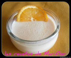 Postre de queso a la naranja