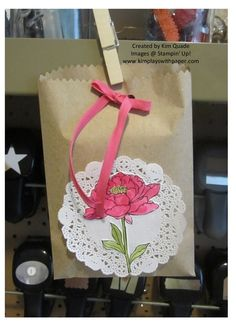 stampin up kraft tag a bag gift bags. stampin up you've got this stam pset.
