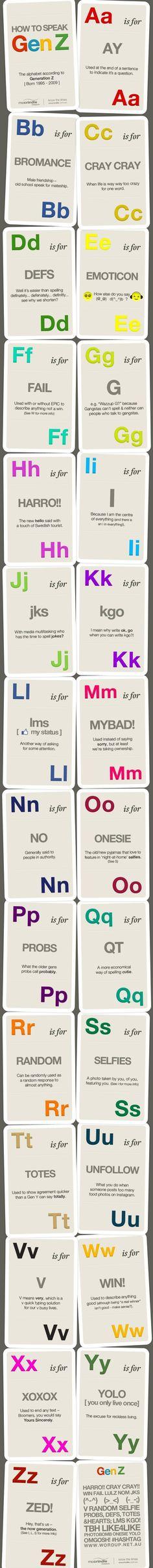 How to speak Genneration Z #infografia #infographic