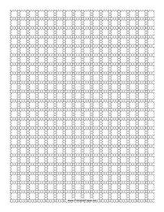 This 3 Seed Bead Right-Angle Weave Pattern beadwork layout graph paper features seed beads in a three-bead right-angle weave pattern. Free to download and print