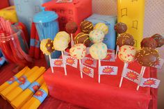 Cake Pops At The Superhero Party  Flickr Photo Sharing