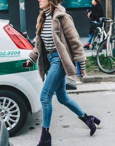Samt Booties jedes Outfit zu erschüttern  #mode #winter #herbst #kleid #modekleider