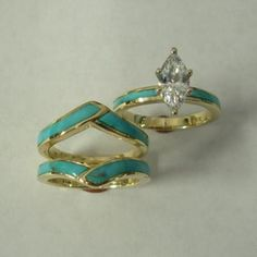 31 Best Turquoise Engagement Ring Images On Pinterest Rings