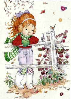 My Sarah Kay, Constanza, Belle and Boo collection - - Λευκώματα Iστού… Sarah Key, Holly Hobbie, Belle E Boo, Decoupage, Clip Art, Australian Artists, Cute Illustration, Vintage Cards, Cute Drawings