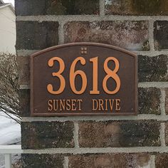 Basic numbers are letters are a standard way of manufacturing a address plaque. Whether its a residential home, a huge mansion, or a local business, every building is aided by a high quality metal address plaque marking their location.