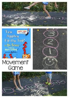 Ten Apples Up On Top Movement Game for Kids This is the perfect gross motor idea…