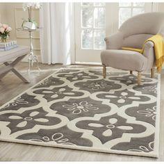 Safavieh Handmade Moroccan Chatham Dark Grey/ Ivory Wool Rug (5' x 8') (CHT751D-5), Size 5' x 8'