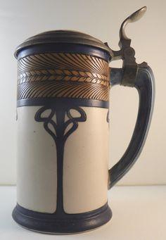 Beer Stein German Mettlach Villeroy Boch Art Nouveau Circa 1900 | eBay