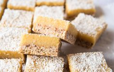 Lemon and Macadamia Slice. Simple, delicious and free from gluten, grains, dairy, egg and refined sugar. Enjoy.