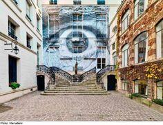 "JR, ""The Wrinkles of the City, Los Angeles, Robert's Eye"" Paris, 2011 | Courtesy of Galerie Perrotin"