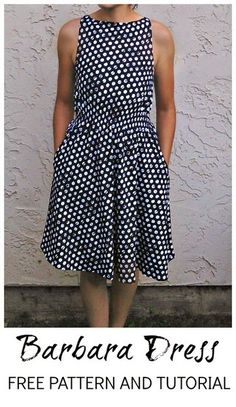 DIY 50s Inspired Modern Dress - FREE Sewing Pattern and Tutorial