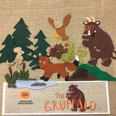 Flannel Board Stories, Felt Board Stories, Felt Stories, Flannel Boards, Gruffalo Characters, Felt Board Patterns, Book Activities, Toddler Activities, Gruffalo Activities