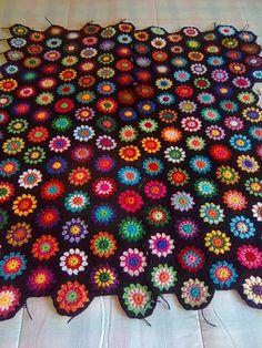 colcha granny square crochet - Buscar con Google