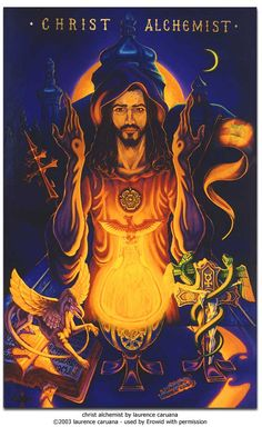 Erowid Visionary Art Vaults : christ alchemist by laurence caruana