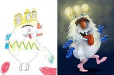 Artistas recriam os monstros assustadores de algumas crianças