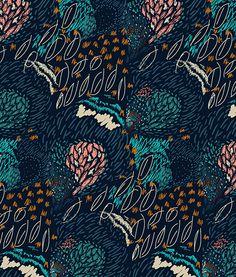 Galapagos Islands Inspired Print on Behance Textile Pattern Design, Surface Pattern Design, Textile Patterns, Textile Prints, Pattern Art, Abstract Pattern, Textiles, Graphic Patterns, Print Patterns
