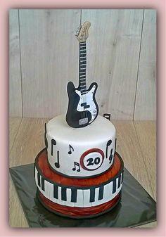 Diseños de tortas musicales para cumpleaños de hombres, ideas de pasteles de boda tema musical y muchas ideas de decoración para tortas con guitarras y ....