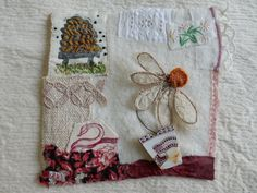 'beehive', one of my squares for Jessie Chorley 'Home' friendship project. Lizz Harding