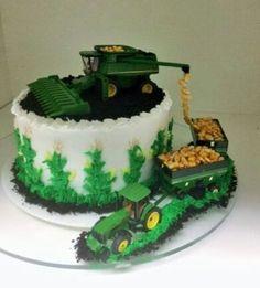 35 Trendy Cupcakes Cakes For Boys John Deere 3rd Birthday Cakes, Tractor Birthday Cakes, Farm Birthday, Farmer Birthday Cake, Tractor Cakes, Dessert Original, Farm Cake, Cakes For Boys, Cake Designs
