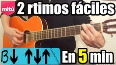 Como tocar ritmo pop/country y balada rock/pop en guitarra (Fácil, sin c...