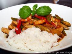 Kam kon pot Scampi, Grains, Restaurant, Food, Eten, Restaurants, Seeds, Meals, Dining Room
