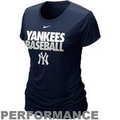 New York Yankees Women's Dri-FIT Performance Cotton T-Shirt - Navy Blue