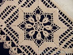 Does anyone know the source of this pattern or who might have the directions for it ? Crochet Diagram, Filet Crochet, Crochet Motif, Crochet Doilies, Crochet Flowers, Crochet Lace, Crochet Table Topper, Crochet Tablecloth Pattern, Crochet Bedspread