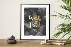 Wild at heart. OLD GOLD edition. B/W photography. Bali. handmade lettering finished stamping old gold. Photograph by ©Salva López