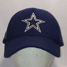 8dd163849e0583 Dallas Cowboys Reebok Hat NFL Football Baseball Cap Vtg 90s Blue White Wool  Blend Sports Dad Hats Mens Caps Cool Gifts For Guys T13 JL8058