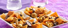 Enjoy the classic flavors of caramel popcorn, cheese crackers and chocolate chips in this crunchy snack made using Chex Mix® cheddar snack mix. Ready in five minutes!
