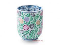 Photo1: Imari Arita japan fine china porcelain Japanese Teacup Autumn Flowers
