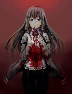 I like a good scary/bloody anime and or manga. [Mostly mangas. they are usually better. Art Manga, Manga Girl, Manga Anime, Anime Art, Anime Girls, Kurisu Makise, John Kenn, Creepy, Scary