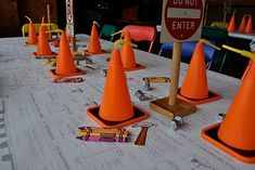 Construction party. So cute - love the cups!