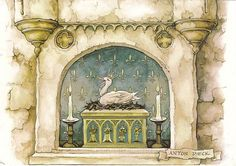 The Golden Goose by Anton pieck Illustrator, Anton Pieck, Globe Icon, Disney Concept Art, Dutch Painters, Animation Background, Dutch Artists, Free Graphics, Fairytail