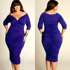 Plus Size & Curvy women.  Dress from IGIG.