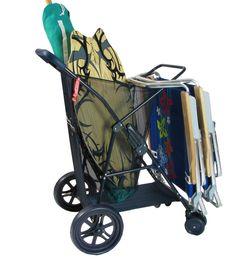 Beach Mall   -   Beach Cart Wonder Wheeler Folding Beach Cart-need this