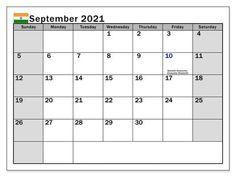 September 2021 Calendar With Holidays US, UK, Canada, Australia, India Canada Calendar, Calendar May, Printable Blank Calendar, Monthly Calendar Template, Monthly Calendars, September Kalender, Federal Holiday Calendar, March Holidays, India Holidays