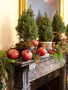 vignette design: Decking The Halls With Fresh Greens And Flowers
