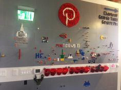 Pinterest Lego Board - Real Lego-As the Airbnb office is in the same block as the Pinterest office, and a former colleague  started working there just recently, it's fairly easy to pop-in and check out their office. The Pinterest office is like their product, fun and full with interesting design or DIY projects. Like this giant Lego Pinterest board with a Pinterest logo in Lego.