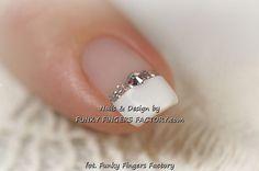 Gelish Wedding Manicure with Swarovski crystals ... | get your nails …
