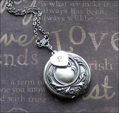 A personal favorite from my Etsy shop https://www.etsy.com/listing/250905422/personalized-locket-initial-necklace