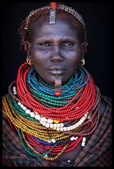 Africa | Nyangatom elder in Kangatan, Omo Valley, Ethiopia | ©John Kenny
