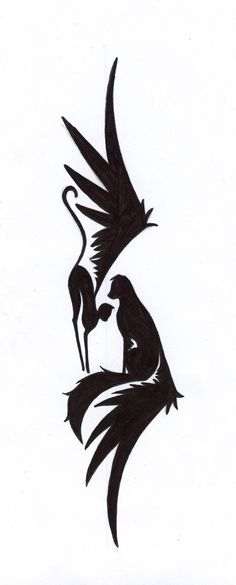 tattoo design by thehiddentruths. pair of winged cats