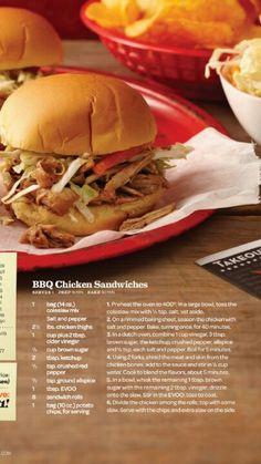 Rachel Ray BBQ chicken sandwiches