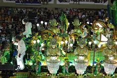 The Sambadrome Parade at Carnaval in Rio de Janeiro