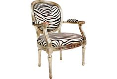 Vintage chair redesigned with zebra