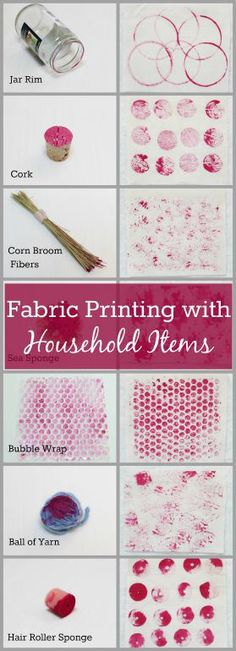 Add texture to fabric with paint and some common household items!