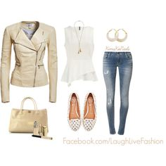 """Leather Outdoor Jacket"" by #kimskienails on Polyvore"